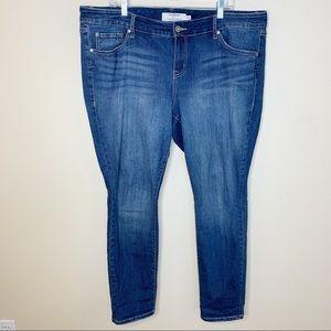 Torrid Skinny Denim Jeans Plus Size Blue Sz 16